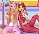 Anna ve Barbie Pijama Partisi