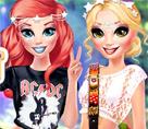 Ariel ve Rapunzel Rock Konserinde