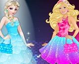 barbie ve elsa moda yarisi oyna oyunmoyun com