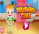 Bebek Hazel Dişlerini Fırçalıyor