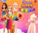 Disney Kıyafet Boyama
