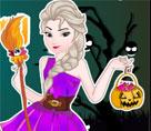 Elsa Cadılar Bayramı Dükkan Temizliği