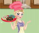 Elsa Donut Yapıyor