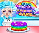 Elsa ile Gökkuşağı Pastası