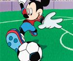 Futbolcu Mickey Mouse