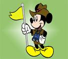 Golfcü Mickey Mouse