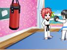 Kick Bokscu Kız Giydir