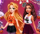 Moana Ve Rapunzel Cadılar Bayramında