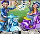 Motorcu Elsa ve Anna