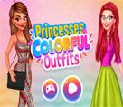 Prensesler Renkli Kıyafetleri