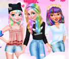 Prenseslerin Renkli Bahar Saçları