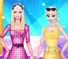 Süper Model Barbie ve Elsa