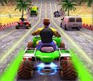 Trafikte Atv Yarışı